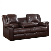 Milton Greens Stars Burgas Reclining Sofa with Dropdown Cup Holder, 210cm by 100cm by 100cm , Dark Brown