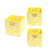 Modern Littles Organisation Bundle-3 Storage Bins, Rusty Giraffe