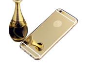 Inspirationc® iPhone 6 Plus Luxury Metal Plating Aluminium Bumper Super Slim Mirror Metal Case for iPhone 6 14cm Plus Metal Aluminium Mirror Case Cover--Gold