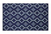 Jean Pierre Yapi Textured Decorative Accent Rug, 70cm x 120cm Blue Multi