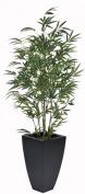 Artificial 1.5m Green Bamboo in Black 486 Zinc Planter