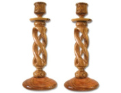 Pair of Hollow Twisted Candle Holders