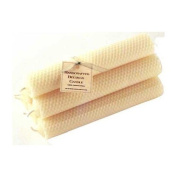 ArtisanStreet's Hand-Rolled Beeswax Honeycomb Tapers. Set of 12 Candles Measuring 15cm . Creamy Dripless, Long Burning Perfectly to End. Providing Warm Glow & Subtle Honey Fragrance. Limited Edition.