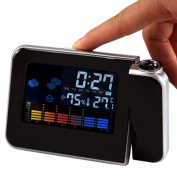 Weather Station Forecast Temperature Humidity LCD Digital Alarm Desk Projection Projector Clock