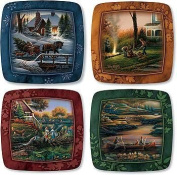 Family Square Mini Plates by Terry Redlin