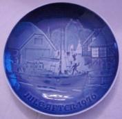Bing & Grondahl Blue Christmas Plate Jule After 1976