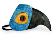 Leather mask, 'Baby Blue Macaw'