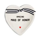 Pavilion Gift Company 63051 Maid of Honour Ceramic Keepsake Dish, 10cm - 1.3cm