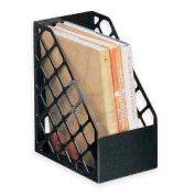 Office Depot(R) Brand 30% Recycled Mesh Plastic Magazine File, Large, Black