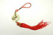Red Feng Shui Horse Medallion Tassel for Good Fortune
