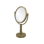 Allied Brass TR-4/2X-ABR Table Mirror with 2X Magnification, Antique Brass