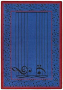 Joy Carpets Kid Essentials Music & Special Needs Fully Staffed Rug, Blue, 0.9m x 1.5m