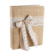 Ivy Lane Design Country Romance Wedding Memory Book, White