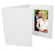 White Smooth-Cardboard Event Photomount Folder frame w/plain border sold in 25s - 4x6