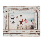 Prinz Homestead Wood Frame, 10cm by 15cm , Distressed White