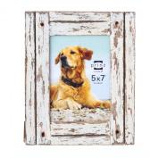 Prinz Homestead Distressed Wood Frame, 13cm by 18cm , White