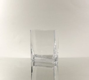 WGV Clear Rectangle Block Glass Vase, 2 by 13cm by 15cm