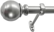 Decopolitan 2.2cm Ball Window Treatment Rod, 18 to 90cm , Nickel