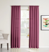 No. 918 Marley Heathered Solid Curtain Panel, 100cm by 160cm , Berry