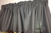 130cm x 38cm Unlined WINDOW CURTAIN VALANCE MADE FROM Poly COTTON Solid Grey Grey FABRIC