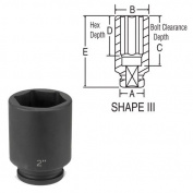 Grey Pneumatic 3088D 1.9cm Drive x 5.1cm - 1.9cm Deep Socket