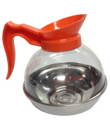 Bloomfield DCF8885O3 Decaf Unbreakable Decanter, Plastic with Stainless Steel Bottom, Orange Handle