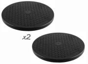 2 Lazy Susans - 25cm Rotating Turntable - each 29kg Capacity