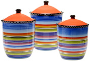 Certified International Tequila Sunrise 3-Piece Canister Set, 1660ml, 2010ml and 2840ml