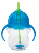 Munchkin Click Lock Weighted Flexi Straw Trainer Cup, Blue, 210ml