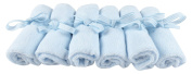 Baby Washcloths - Softest, Organic Bamboo Towels - Guaranteed Best Cloths - Blue