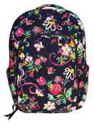 Vera Bradley Laptop Backpack (Updated Version) with Solid Colour Interiors