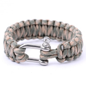 550Paracord Parachute Cord Military Survival Bracelets Stainless Steel Shackle Bangles