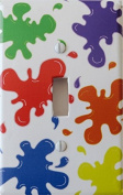 Multicoloured Paint Splatter Light Switch Plates / Paintball Switch Plates