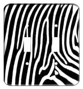 Zebra Skin Print Wall Plate Switchplate Covers