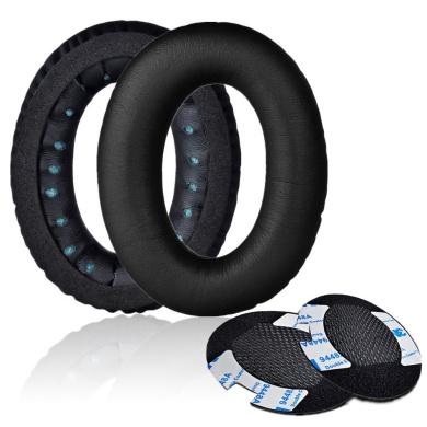 Replacement Earpads, Mudder 2 Pcs Memory Foam Ear Pad - Cushion Repair for Bose Quietcomfort 2 / 15 / 25, Ae2, Ae2i - Black