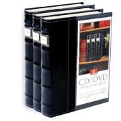 American Covers 11307 Black Vinyl Cd & DVD Storage Binder / Organiser - 3 Pack