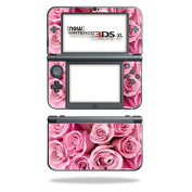 MightySkins Protective Vinyl Skin Decal for New Nintendo 3DS XL (2015) cover wrap sticker skins Pink Roses