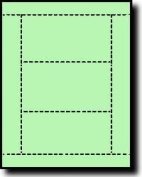 750 Label Outfitters® Index Cards, or Post Cards, Light Green, 250 Sheets with 3 Cards per Sheet