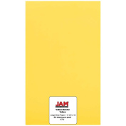 JAM Paper® - Yellow Vellum Bristol 30kg Legal Size Cover Cardstock (8.5 x 14) - 50 sheets per pack