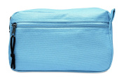 Zippered cosmetic travel bag make up case toiletry holiday beauty