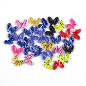 Hrhyme(TM) 10Pcs Mixed Colours 3D Resin Butterfly Nail Art Decoration