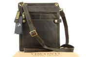 Visconti Cross-Body Midi Messenger iPad/Kindle Bag A5 - Hunter Leather - 18512 Neo