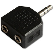 3.5mm Mini Jack Plug to 2 Sockets Stereo Headphone Splitter Adaptor