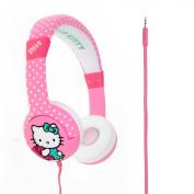"NEW! Hello Kitty Headphones for Children - Kids Headphones - HK0323 ""Dotty Kitty"" - Pink"