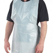 Healthgard White Disposable Polythene Aprons - Roll of 200