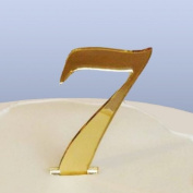 Number 7 Cake Topper Gold Acrylic Mirror in Script