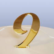 Number 9 Cake Topper Gold Acrylic Mirror in Script