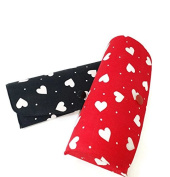 Ladies Heart Glasses/ Spectacle Case - BLACK Fits most womens spectacle frames. Press stud fastening
