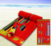 Red Foot Print - Jumbo Extra Large Beach Towel - 100% Cotton Multiple Designs Bath Sheet Holidays