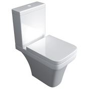 Supreme 600 Bathroom White Ceramic Close Coupled Toilet & Soft Close Toilet Seat